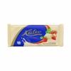 Kalev белый шоколад с кусочками печенья и клубникой 100г