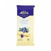 Kalev белый шоколад c воздушным рисом и кусочками черники 100г